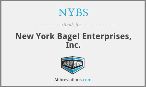 NYBS - New York Bagel Enterprises, Inc.