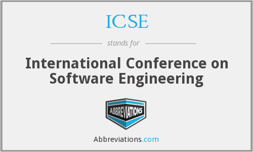 ICSE - International Conference on Software Engineering