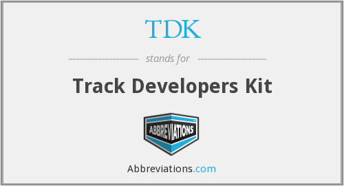 TDK - Track Developers Kit