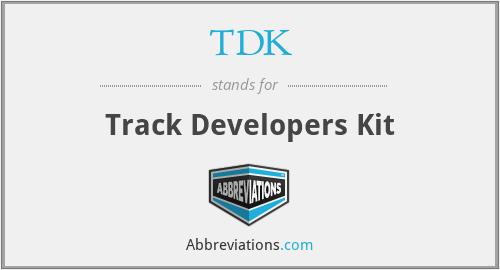 TDK - Track Developers Kit