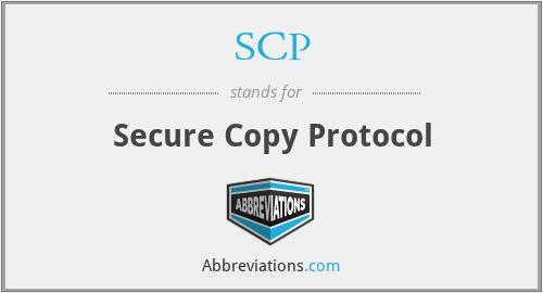 SCP - Secure Copy Protocol