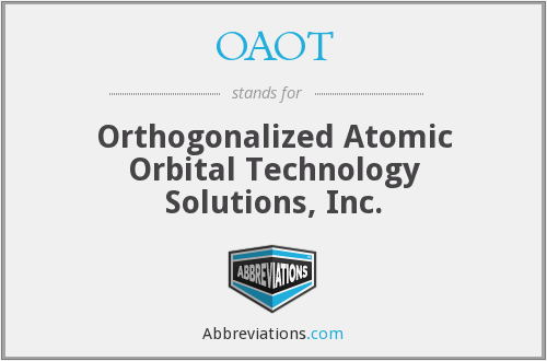 OAOT - Orthogonalized Atomic Orbital Technology Solutions, Inc.