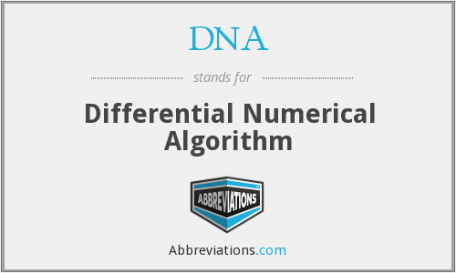 DNA - Differential Numerical Algorithm