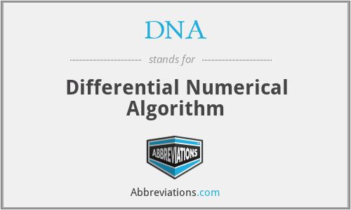 DNA - Differential Numerical Algorithm