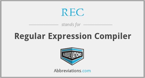 REC - Regular Expression Compiler