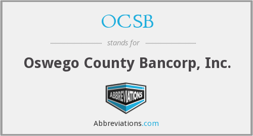 OCSB - Oswego County Bancorp, Inc.