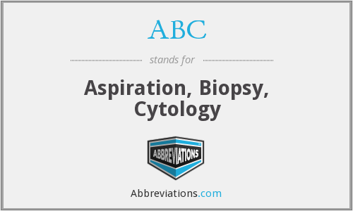 ABC - Aspiration, Biopsy, Cytology