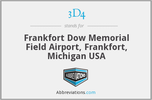 3D4 - Frankfort Dow Memorial Field Airport, Frankfort, Michigan USA