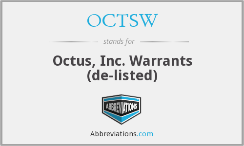What does OCTSW stand for?