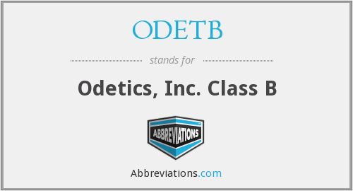 What does ODETB stand for?