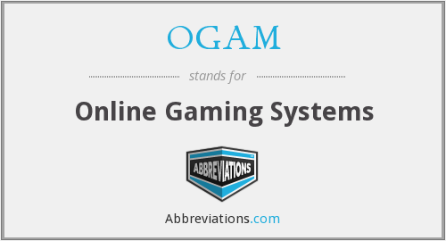 What does OGAM stand for?