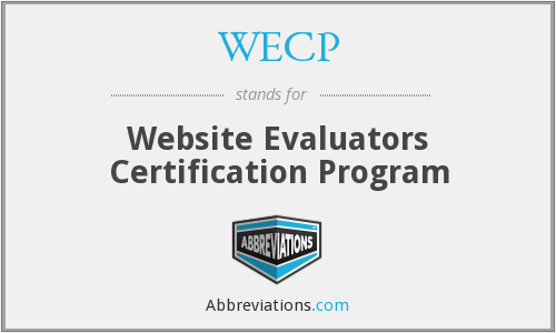 WECP - Website Evaluators Certification Program