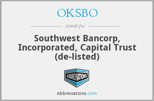 What does OKSBO stand for?