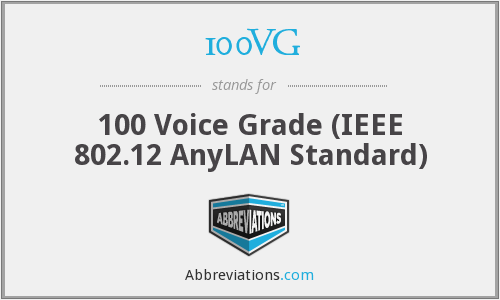 100VG - 100 Voice Grade (IEEE 802.12 AnyLAN Standard)