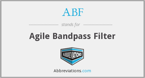 ABF - Agile Bandpass Filter