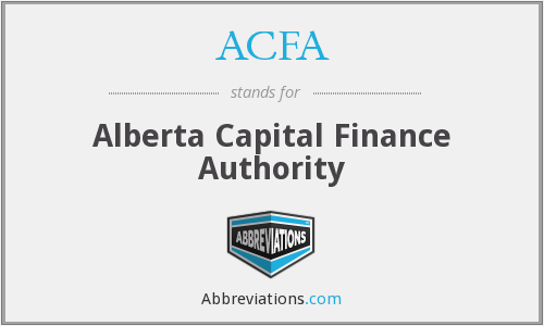 ACFA - Alberta Capital Finance Authority