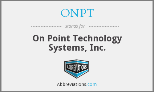 What does ONPT stand for?