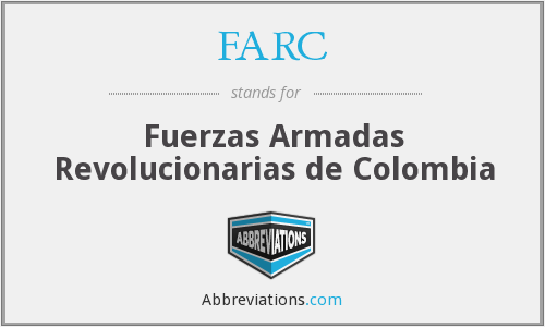 What does FARC stand for?