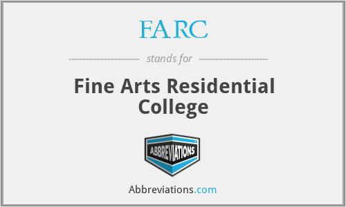 FARC - Fine Arts Residential College