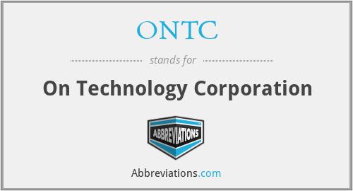 ONTC - On Technology Corporation