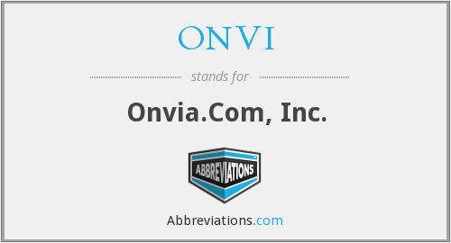 What does ONVI stand for?