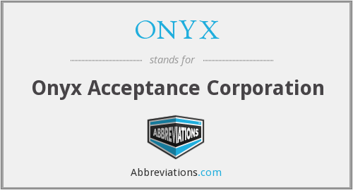 What does ONYX stand for?