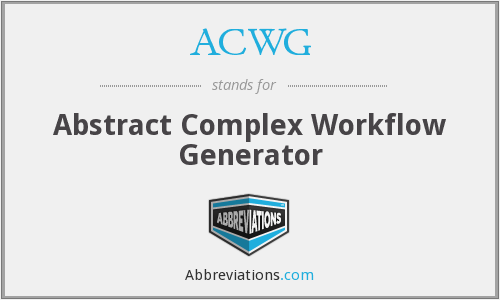 ACWG - Abstract Complex Workflow Generator