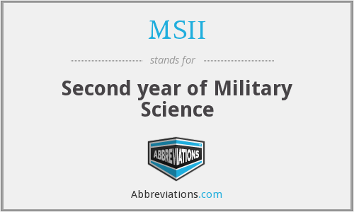 MSII - Second year of Military Science
