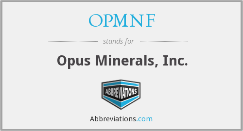 What does OPMNF stand for?