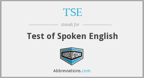 TSE - Test of Spoken English