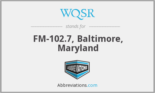 What does WQSR stand for?