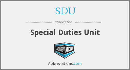 What does duties stand for?