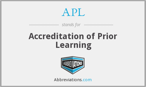 APL - Accreditation of Prior Learning