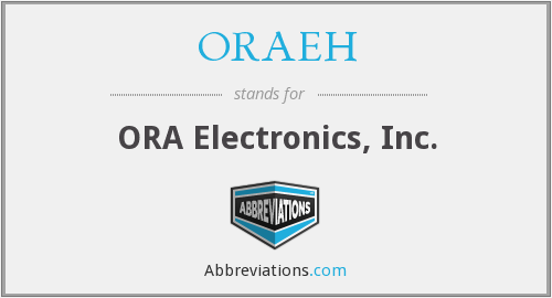 What does ORAEH stand for?