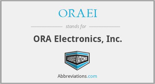 ORAEI - ORA Electronics, Inc.