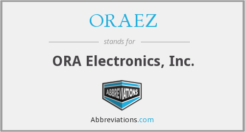 What does ORAEZ stand for?