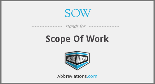 SOW - Scope Of Work