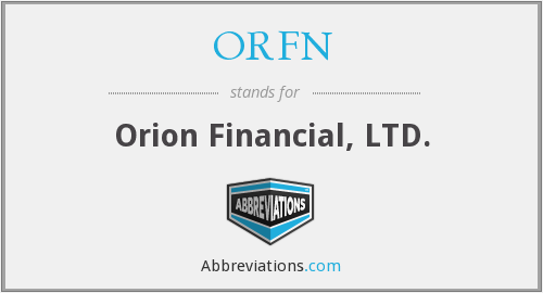 What does ORFN stand for?