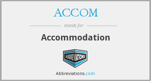 What does accommodation stand for?