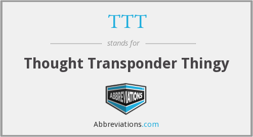 TTT - Thought Transponder Thingy