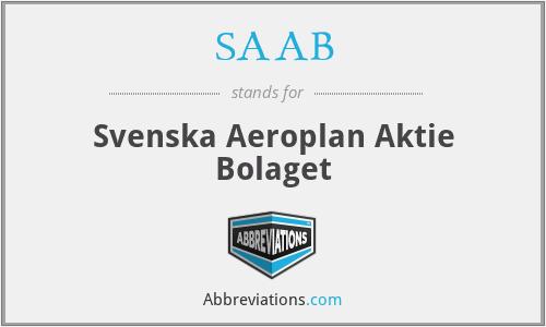 SAAB - Svenska Aeroplan Aktie Bolaget