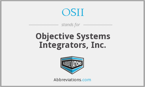 OSII - Objective Systems Integrators, Inc.