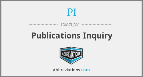 PI - Publications Inquiry