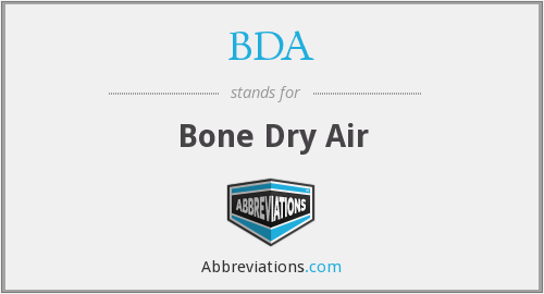 BDA - Bone Dry Air