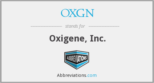 What does OXGN stand for?