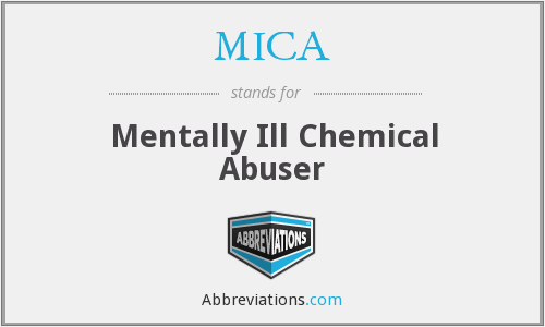 MICA - Mentally Ill Chemical Abuser