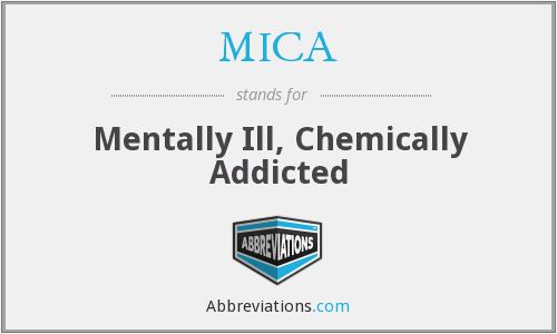 MICA - Mentally Ill, Chemically Addicted