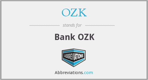 What does OZRK stand for?