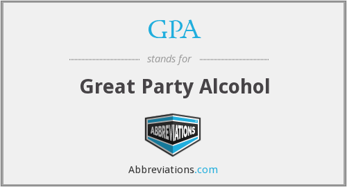 GPA - Great Party Alcohol