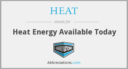 HEAT - Heat Energy Available Today